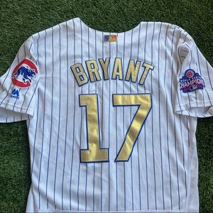 Majestic MLB Chicago Cubs #17 Kris Bryant Jersey